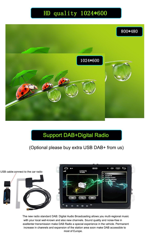 Car Multimedia player 2 Din Car DVD For VWVolkswagenGolfPoloTiguanPassatb7b6CCSEATleonSkodaOctavia Radio GPS