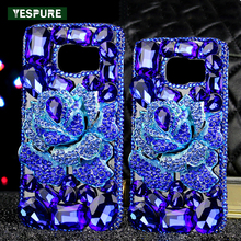YESPURE Fancy 3D Rhinestone Camellia Telephone Cover Case for Samsung Galaxy S8 plus TPU Cell Phone Accessories Fundas Capa