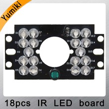Yumiki Security Camera 18 LED 5mm IR Infrared Illuminator Board Plate for auto car