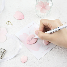 2pcs Mini Memo Pad Decorative Simplepaper Sticker Leaf Shaped Post It School Office Supply Kids Gifts Romantic Pink Sticky Notes