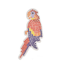 1pc Puzzle Parrot Pegboards Patterns Hama Perler Beads DIY Kids Craft Plastic Stencil child fuse bead Toys