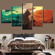 Modern Canvas Living Room Pictures Painting Wall Art 5 Panel Star Wars Framework HD Printed Modular Poster Home Decoration