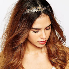 Fashion Gold Leaf Branch Dainty Hair Crown Head Dress Boho Alice Band Wedding Tiara Headbands Hairpiece Bridal HeadPiece Jewelry