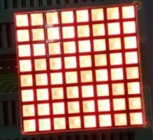 FREE SHIPPING 10PCS x 3MM 8X8 RED 32*32mm Square LED Dot Matrix Digital Tube Module 1288BS Common Anode LED Display Module
