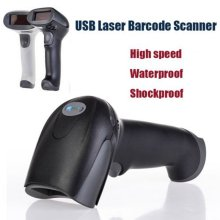 Laser Barcode Scanner Handheld Scanner Wired Automatic Bar Code Reader Scanning Gun Long Scan POS for Supermarket