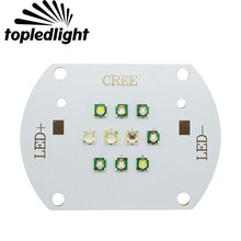 Topledlight Customize 30W DIY Cree XPE +Epileds Plant Grow Led Emitted Light DC 29-33V 600-650mA 430NM 450NM 470NM 490NM 7000K