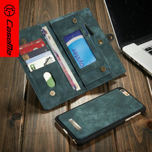 Luxury Fundas Coque For iPhone 6 Plus Leather Case Vintage 2 In 1 Design Removable Back Cover Wallet Style for Samsung Galaxy S7(China)