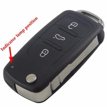 3 Button Folding Remote Car Key Case Car Key Shell Flip Fob for VW for Polo Golf for MK6 for Tiguan Touareg 202AD 202H 202Q