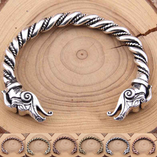 Twisted viking BRACELET with a Dragon Wrist Dragons 7Colors norse viking Bangle 1Pcs/lot