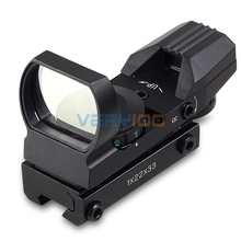 Hunting Holographic Laser Sight Scope Red Green Dot Projected Reflex Sights 4 Reticle For Air Rifle Pistol With 11mm Rail
