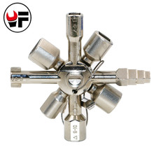 YOFE 10 Way Service Utility Key 10 In 1 Universal Cross Key Plumber Keys Triangle For Gas Electric Meter Cabinets Bleed HT889(China)