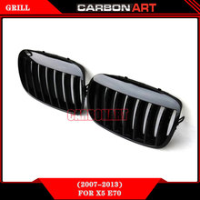 For Bmw X series X5 ABS Car front grill X6 car mesh grill E70 aftermarket trunk grills e71 mesh grill tuning material 2008-2014
