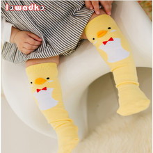 Cute Soft Cotton Kawaii Girls Boys Sock Duck Penguin Design Catoon Pattern Kids Socks Baby Long Socks(China)