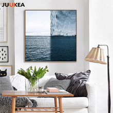 Ocean Sea Iceberg Glacier Square Creative Photography Art Canvas Print Painting Poster Wall Pictures For Living Room Home Decor