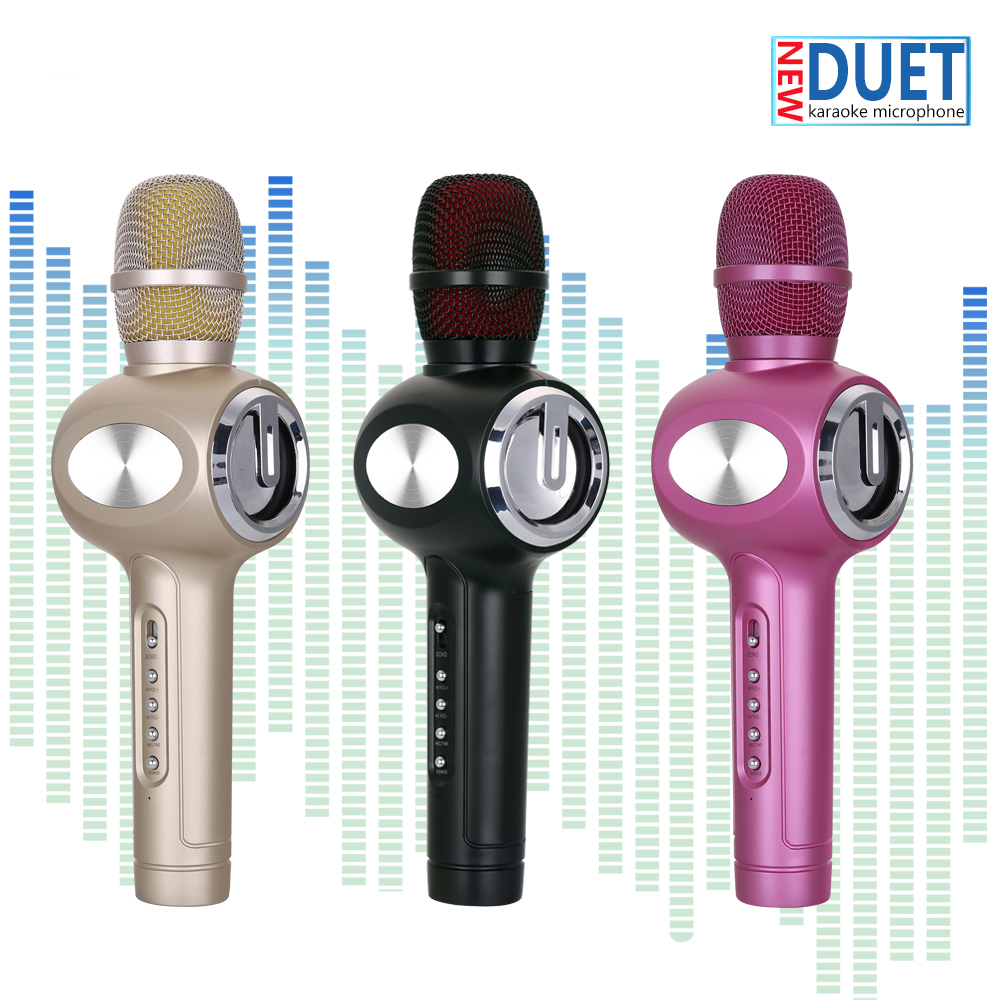 2-sets-Duet-Singing-Wireless-Karaoke-Microphone-Bluetooth-Speaker-2-in-1-Handheld-with-Disco-Light