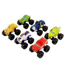 1pc Russian Vehicle Car Toys Blaze and the Monster Machines Boys Toys Transformation Toys With Original Box Best Gifts For Kids