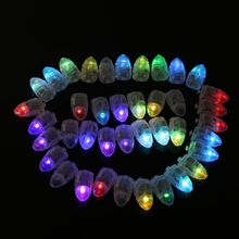 50pcs/lot Colorful LED Lamps Balloon Lights for Paper Halloween Lantern Balloon Christmas Party Decoration Light Decorations(China)