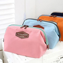 Women's Cute Pink Canvas Handbag Pouch Travel Organization Beauty Cosmetic makeup tool Storage bag Lady Wash Bags Accessories