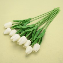 10/30pcs Simulation Tulips Flowers Real Touch PU Tulip Artificial Flower Bride Bouquet Wedding Party Home Decor Christmas Gift