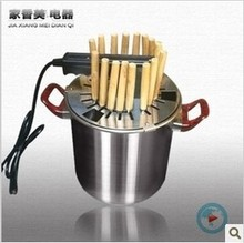 Stainless steel smokeless barbecue , household electric ovens, barbecue stove,  roasted mutton cubes roasted on  skewer, string