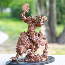 "WOW Orc Wolf Rider Statue Figure PVC Hit Game Peripheral Collection KIds Toy Gift New 10"" Chinese"