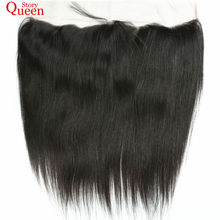 Queen Story Brazilian Straight Hair Lace Frontal Closure Remy Hair 13X4 Natural Color 10-22 Inch Human Hair Weave Free Shipping