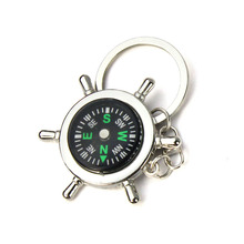 Starry-Styling New Outdoor Camping Portable Alloy Nautical Compass Keychain Ring Chain Delicate 2017 Hot