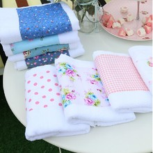 face towel home textile white joint cloth pastoral towel 100% cotton soft water absorption lovers face/hair/bath/hand towel(China)