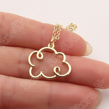 1pcs Small Cloud Pendant Necklace Silver Lining Rain Cloud Necklace Nature Inspired Women Choker Necklaces & Pendants Lead Free
