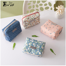 Cute portable carry cosmetic organizer storage bag hand small square bag can be used in small items jewerly fashion simple style