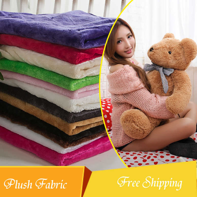 1.55(width)*0.5m solid smooth plush fabric for toys baby blanket DIY wedding shawl carpet sofa cover home textile decoration