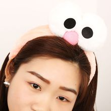New Cute Big Eyes Women Girls Plush Headband Fashion Turban Elastic Headwrap Hairband