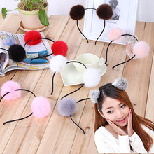 Hot Sale High Quality Women Girls Cute Furry Fluffy Headband Fashion Korean Version Hair band(China)