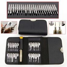 High Quality 20*10.5cm 25-in-1 One Set Precision Screwdriver Set Wallet Pocket Convenient Repair Tools for Electronics PC Laptop