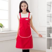 Princess Kitchen Apron Maid Lace Aprons With Pocket Women Avental de Cozinha Divertido Tablier Cuisine Pinafore Bibs Custom-logo(China)