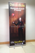 Freeshipping 10x 32''x79'' Roll Up Banner Stand W/Graphic Printing(China)