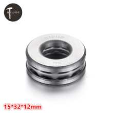 1Pcs 51202 Flat Thrust Ball Bearings Bearing Steel 15*32*12mm For Crane Hook Jack Low Speed Reducer Accessories Bearings