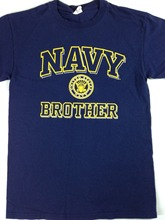 United States Navy Brother T-Shirt Mens Small Military Sibling Naval Academy Tee 2017 Summer Style T Shirt Gildan(China)
