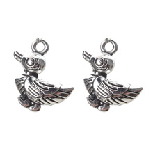 Buy 10pc/lot Duck Charms Antique Silver Charms Jewelry Making Accessories Pendant Necklace Findings 2 Side 22*16mm for $1.40 in AliExpress store