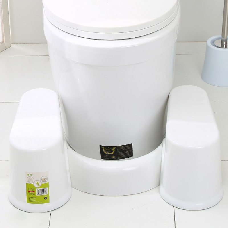 Plastic Non-slip Bathroom Toilet Aid Squatty Step Foot Stool For Potty Help Prevent Constipation faster bowel movements<br>