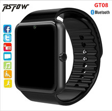 RsFow Newest Smart Watch GT08 Clock Sync Notifier support Sim&TF Card Slot Push Message Bluetooth Connectivity Android Phone