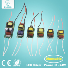 3W-24W Dimmable LED Lighting Driver Input AC220-240V Output DC9-84V Transformer Power Supply Adapter for Led Light(China)