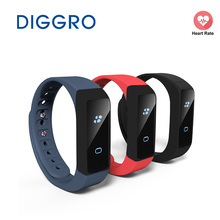 DIGGRO i5 Plus OLED Smart Wristband Pedometer Traker Calorie Health Sleep Monitor Bracelet Bluetooth 4.0 Watch For Android IOS(China)