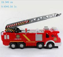 Juguetes Fireman Sam Kids Toys Fire Truck Car With Music Led For Children Boy Toy Fire Truck Educational Water Spray Toy FD052(China)