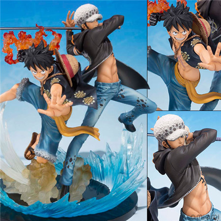 NEW hot ! 16cm One piece Trafalgar Law and luffy action figure toys Christmas doll toy Christmas gift<br>
