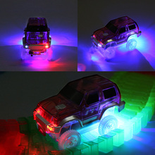 LED Car Electronics Toy Car Rail Car With Flashing Lights Toy  Boys&Girls Educa tional Toy For Children Play Track