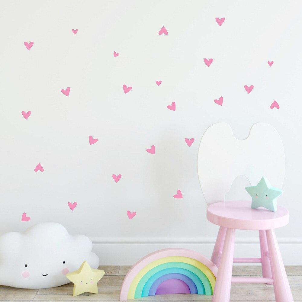 Tapisserie Murale autocollant nom coeur amour petit cœur date de mariage