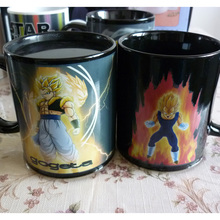 Dragon Ball Vegeta Magic Mugs Creative Color Changing Cups Z Gogeta Power Up Coffee Cup Discoloration Heat Saiyan Hero Duel Gift
