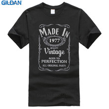 Buy 2017 Summer Brand Clothing O-Neck Funny Short Sleeve Mens Made 1977 40Th Year Birthday Age Vintage Born Present T Shirt for $11.99 in AliExpress store