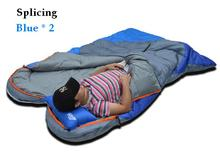 new waterproof camping portable emergency cotton Splicing sleep bagspring outdoor travel envelope style waterproof sleeping bag(China)